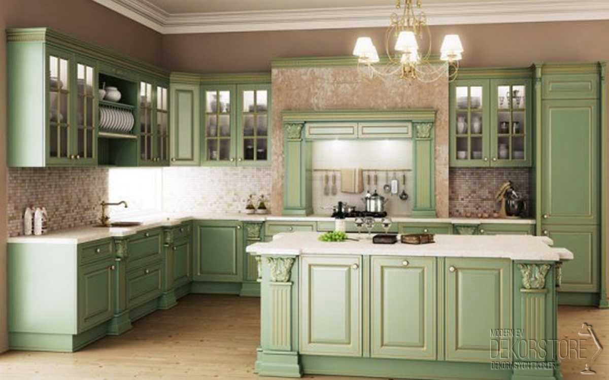 vintage-amerikan-mutfak-modelleri