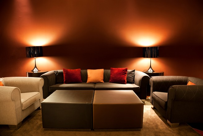 Empty sofas and armchairs