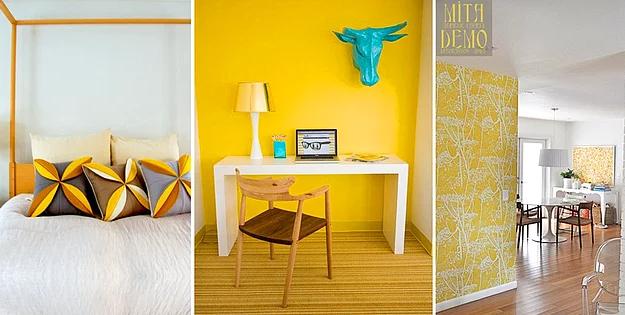 acık sarı dekorasyon